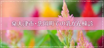 泉大津市・忠岡町での乳がん検診
