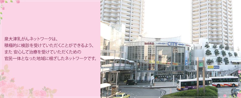 泉大津乳がんネットワークは、積極的に検診を受けていただくことができるよう、また安心して治療を受けていただくための官民一体をなった地域に根ざしたネットワークです。